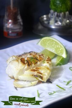 Dos de cabillaud mariné au citron vert pour une recette plancha Fish Recipes, My Recipes, Healthy Recipes, Nordic Recipe, Cuisine Diverse, Mediterranean Recipes, Fish And Seafood, Food And Drink, Vegetarian