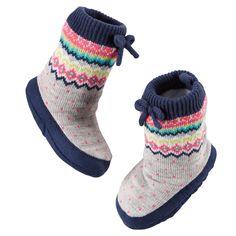 Baby Girl Carter's Fair Isle Slipper Socks | Carters.com