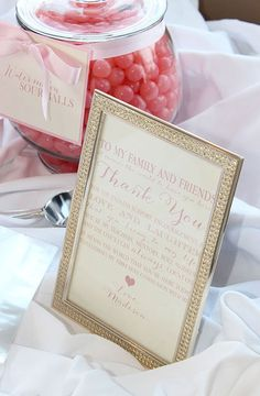 Soft and Feminine First Communion Party - Pretty My Party / Custom thank you signage by MLShaughnessy Designs