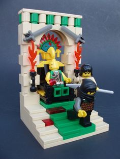 Book of Mormon Lego scenes.