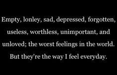 Empty feelings