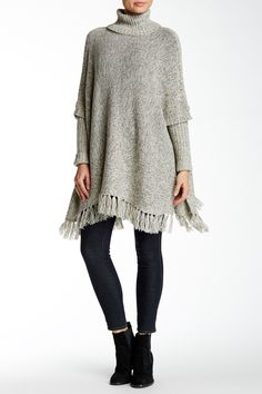 RDI | Fringe Sweater Poncho with Arms | Nordstrom Rack