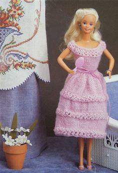 PDF Dolls Clothes Knitting Pattern : 11 - 12 inch Dolly . Barbie Doll . Fashion Dolly . Instant Digital Download by PDFKnittingCrochet on Etsy