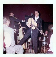 Johnny Cash and the Tennessee Three in the Early Days — with WS Fluke Holland