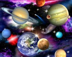 Fabrics has this great In Space Solar System Planets & Galaxies Quilt Fabric by Elizabeth Studios for sale by the fat quarter or yard. Space Solar System, Solar System Planets, Cotton Quilting Fabric, Cotton Quilts, Theme Galaxy, Planets And Moons, Space Fabric, Black Space, Astronauts In Space