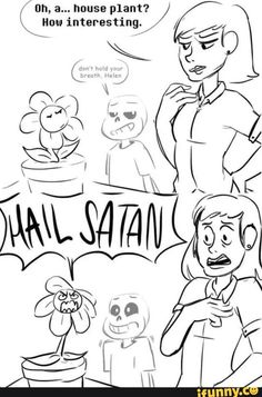 Sans can't decide if he should get mad or give props to flowey.