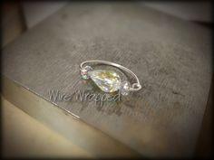 Navel Belly Ring Hoop  Swarovski AB Crystal  by WireWrappedDesign, $28.95