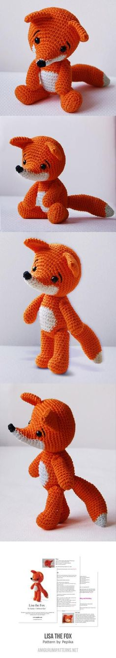 Amigurumi Crochet Fox Pattern - Lisa the Fox - Softie - Plush - ideas regalo navidad Crochet Fox, Crochet Amigurumi, Cute Crochet, Amigurumi Patterns, Crochet Animals, Crochet Crafts, Crochet Dolls, Crochet Projects, Knitting Patterns