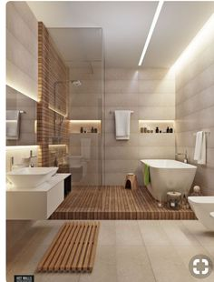 New modern shower, bathroom