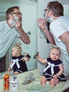 """The """"World's Best Father"""" photo series created by father and photographer Dave Engledow has taken the internet by storm. The series consists of a collection of hilarious images that involve Dave with his daughter Alice-Bee in hilarious situations."""