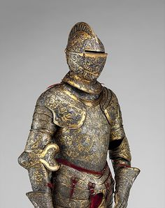 French Parade Armor,  The crescent moon, one of the badges of Henry II (reigned 1547–59), appears in several places.