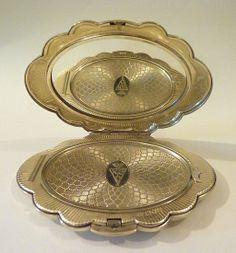 Rare sterling silver Kigu 'Bolero' compact...