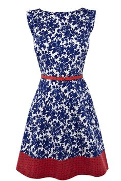 Mexican print dress, £60, Oasis