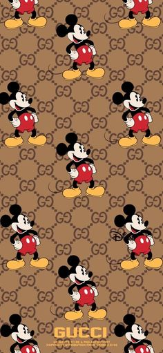 Gucci Wallpaper Iphone, Mickey Mouse Wallpaper Iphone, Cartoon Wallpaper Iphone, Cute Disney Wallpaper, Minnie Mouse Drawing, Mickey Mouse Cartoon, Mickey Mouse And Friends, Disney Mickey Mouse, Cute Patterns Wallpaper