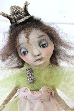 primitive folk art angel princess christmas tree doll OOAK kd milstein PFATT