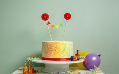 Runner up in 2011's Great British Bake Off, Ruth Clemens' Rainbow Speckled Cake is sure to catch people's eyes.