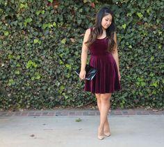 Velvet Skater Dress - Tia Alese Wong