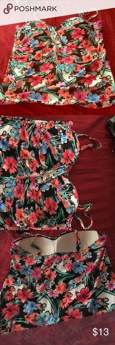 Beautiful flower Swim Top New without tags swim top. Tried it on and I have a size G breast size and it wasn't working for me because unfortunately I had a baby. LOL. My loss your gain.           I love this too it's Beautiful COLLECTIONS by CATALINA Swim Bikinis