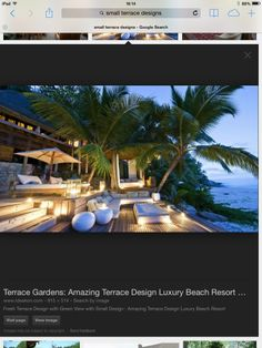 5 Small Terrace, Terrace Garden, Luxury Beach Resorts, Terrace Design, View Image, Image Search, Vacation, Mansions, House Styles