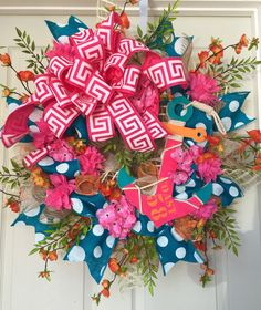 Nautical Anchor Bright Spring and Summer Mesh Wreath by WilliamsFloral on Etsy https://www.etsy.com/listing/228299203/nautical-anchor-bright-spring-and-summer