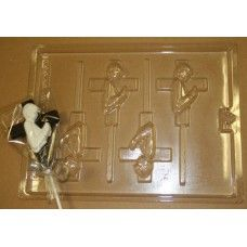 Communion Boy Cross Chocolate Lollipop Mold