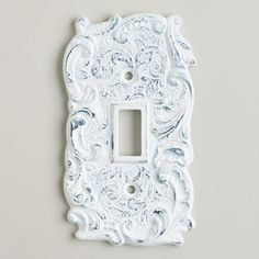 One of my favorite discoveries at WorldMarket.com: Single White Cast Iron Switch Plate
