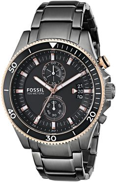 Fossil Men's CH2948 Wakefield Chronograph Stainless Steel Watch - Smoke