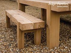 Outdoor+Oak+Bench