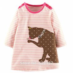 2T~7T New 2015 Branded 100% Cotton Baby Girls Dresses Toddler Kids Clothing Children Clothes Casual Dresses Long Sleeve Girls-in Dresses from Mother & Kids on Aliexpress.com | Alibaba Group