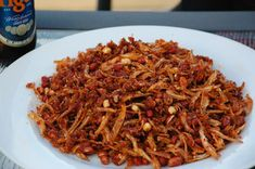 Fried ikan bilis and peanuts recipe : SBS Food Seafood Recipes, Indian Food Recipes, Asian Recipes, Cooking Recipes, Ethnic Recipes, Indonesian Recipes, Indonesian Food, Easy Recipes, Anchovy Recipes