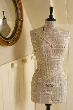 word art dress form