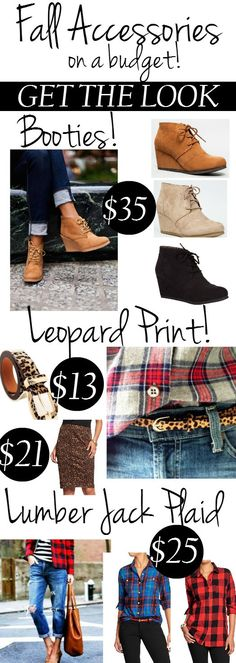 Fall Accessories on a budget.  Get the look of the hot trends for Fall without breaking your budget.