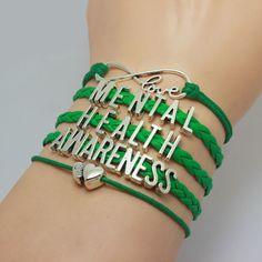 Free Love Mental Health Awareness Bracelet