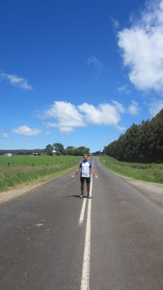 Tasmanian roads are not so busy. better for cyclists