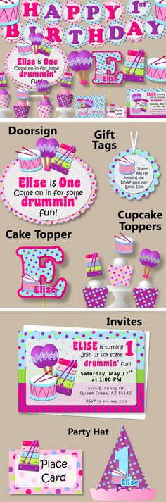 Ideas for a Music Themed Birthday Party - The Blog - salt \ nectar - fresh invitation card for first birthday of baby girl