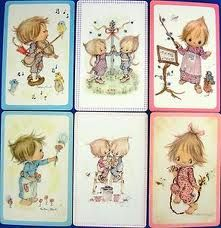 1970s swap cards - my favourite possession at 5 years old was my swap card collection -YES