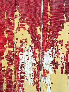 'Peeling Paint' by Tamara Valjean Textures Patterns, Color Patterns, Peeling Paint, Found Art, Red Walls, Art For Art Sake, Abstract Oil, Natural Texture, Abstract Photography