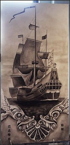 painting - art - ship - Batavia - brown - Jessy Visser