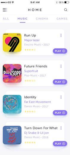Ideas for design menu app inspiration Web Design, Home Design, Ios App Design, User Interface Design, Graphic Design, Apps, Ui Design Mobile, Home Music, Card Ui