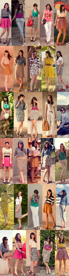 30 outfits 30 days challenge