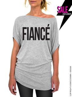"""Use coupon code """"pinterest"""" Fiance - Gray Longer Length Slouchy Tee (Small - Plus Sizes) by DentzDesign"""