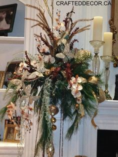 CRAFTEDDECOR.CA Contact us for our seasonal decorating services. Garland #christmas