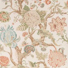 Adlington Paper Coral by Lee Jofa Paper Wallpaper, Home Wallpaper, Lee Jofa, Pattern Names, Paper Roses, Fabric Swatches, Vintage World Maps, Coral, How To Make