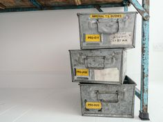 We've included 3 Vintage Industrial Tote Tins - extremely useful in any office space. They could be used as in/out trays, or for keeping office supplies neat and tidy https://www.scaramangashop.co.uk/item/8733/2/New-In/Vintage-Office-In-A-Pack.html