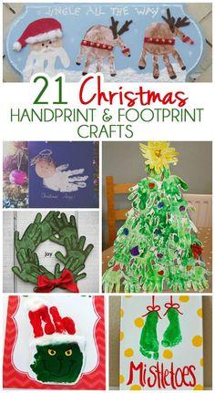 21 Handprint and Footprint Christmas Crafts