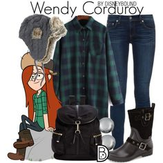 Wendy Corduroy by leslieakay on Polyvore featuring moda, rag & bone, Santana Canada, Calvin Klein, Kenneth Jay Lane, Nirvanna Designs, disney and disneybound