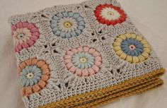 Transcendent Crochet a Solid Granny Square Ideas. Inconceivable Crochet a Solid Granny Square Ideas. Crochet Quilt, Crochet Home, Love Crochet, Crochet Motif, Crochet Crafts, Crochet Yarn, Yarn Crafts, Crochet Projects, Ravelry Crochet