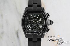 Men's Cartier Black Coated DLC/PVD Roadster Chronograph XL