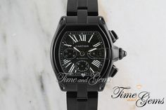 Men's Cartier Black Coated DLC/PVD Roadster Chronograph XL