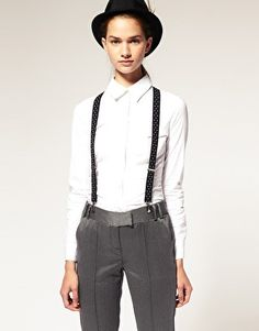 One killer menswear-inspired look. What a baller...